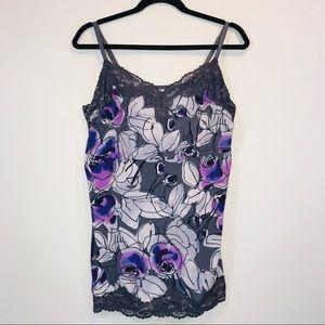 Lane Bryant Floral & Lace Cami Tank - #1184